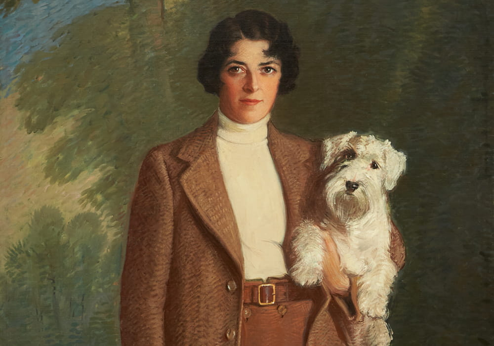 Women and Dogs in Art in the Early 20th c.